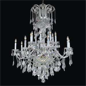 Large Crystal Chandelier | Dynasty 557 by GLOW Lighting