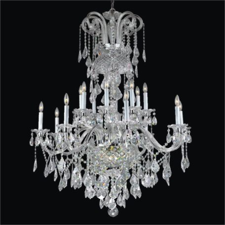 Maria Theresa Chandelier - Entryway Crystal Chandelier | Dynasty 557 by GLOW Lighting