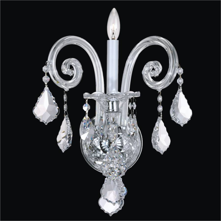 Wall Sconces Crystal : Traditional Crystal Wall Sconce Dynasty 557 GLOW Lighting