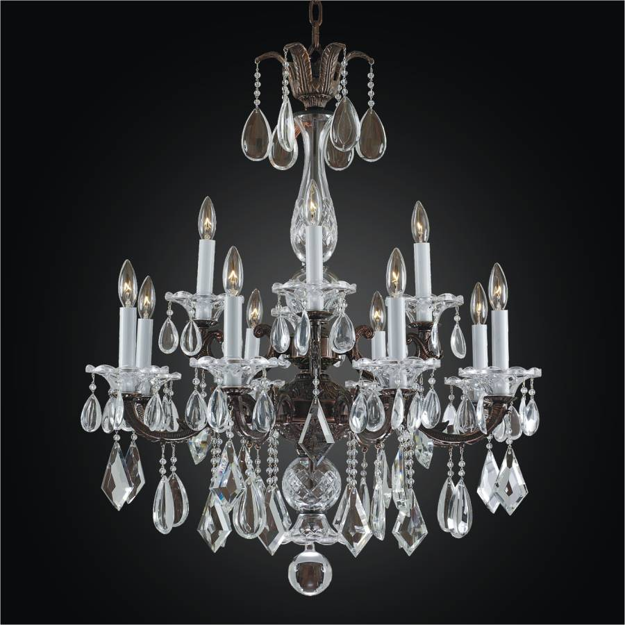 12 Light Chandelier - Old World Chandelier | English Manor 546M by GLOW Lighting