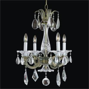 4 Light Chandelier - Old World Chandelier | English Manor 546M by GLOW Lighting