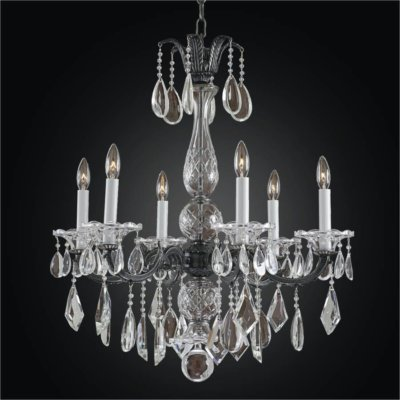 Old World 6 Light Crystal Chandelier | English Manor 546M