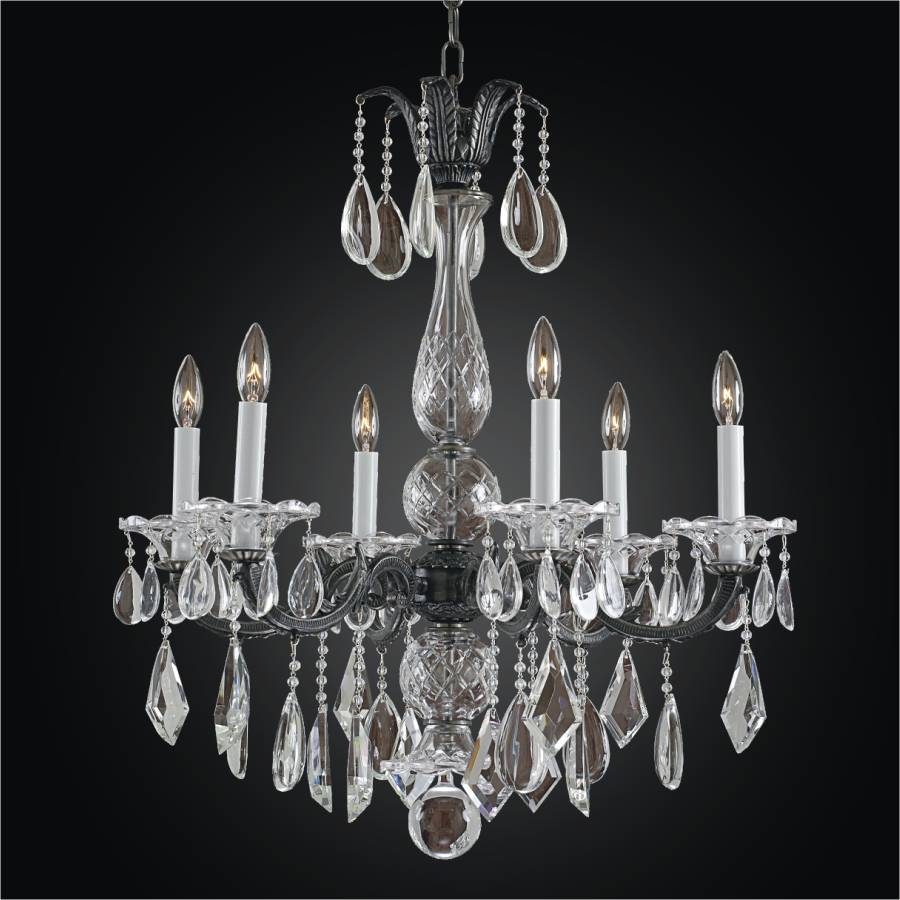 Old World Crystal 6 Light Chandelier | English Manor 546M by GLOW Lighting