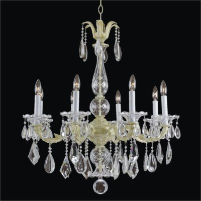 Old World Crystal 8 Light Chandelier | English Manor 546M