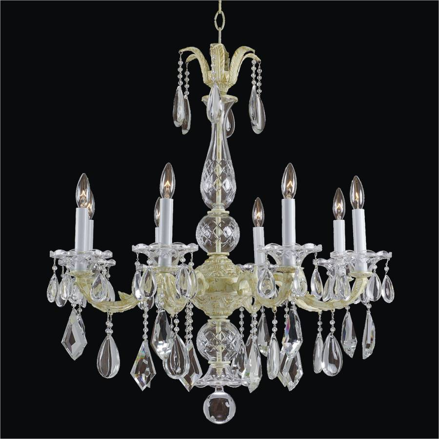 8 light Chandelier | English Manor 546M by GLOW Lighting