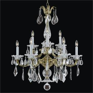 9 Light Chandelier - Old World Chandelier | English Manor 546M by GLOW Lighting