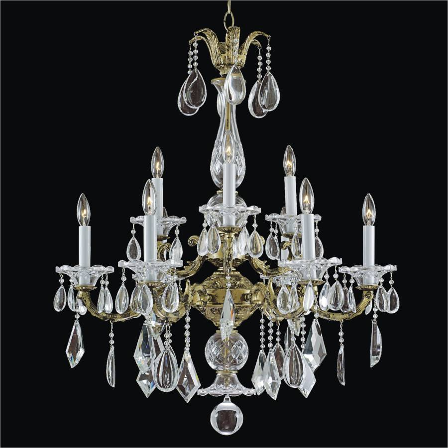 9 Light Chandelier – Old World Chandelier | English Manor 546MD9LAG-7C