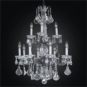 Old World Style Chandelier | English Manor 546A by GLOW Lighting