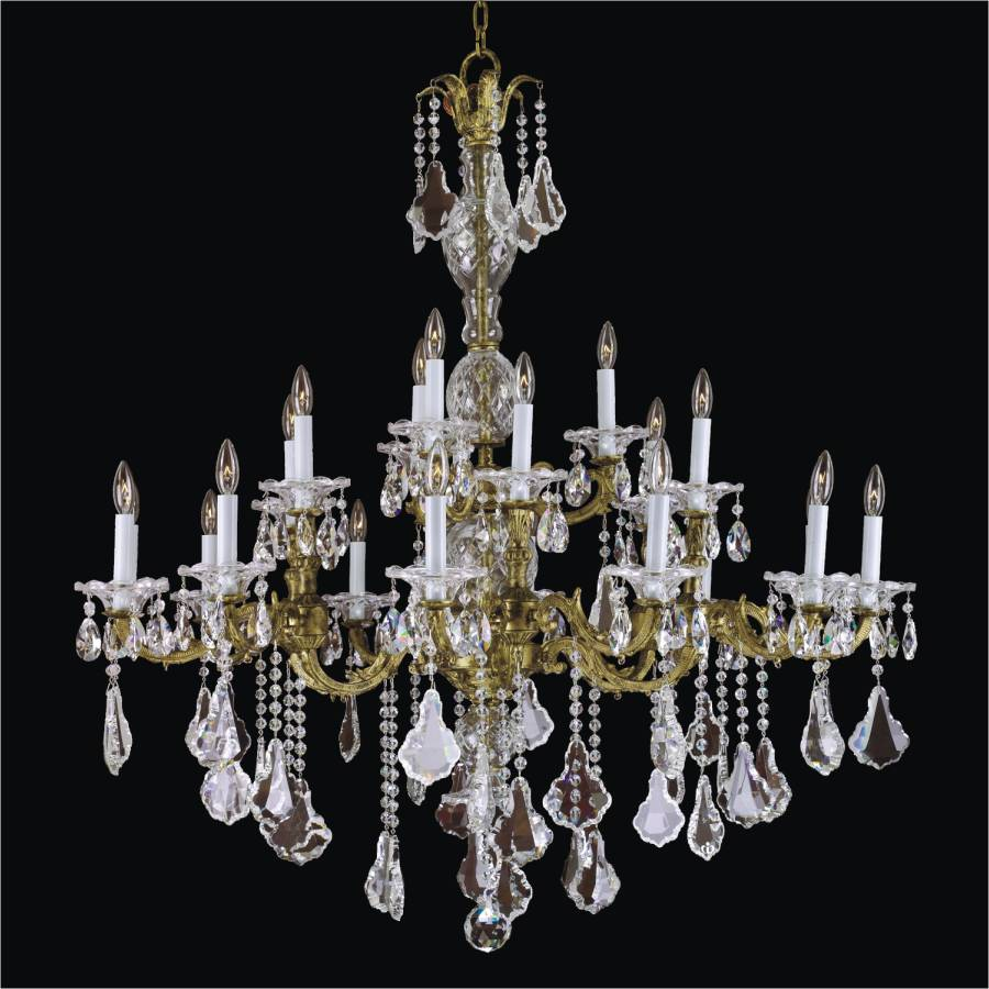 Foyer Crystal Chandelier Old World English Manor 546 By Glow Lighting Metal