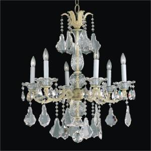 Metal and Crystal Chandelier | English Manor 546A by GLOW Lighting