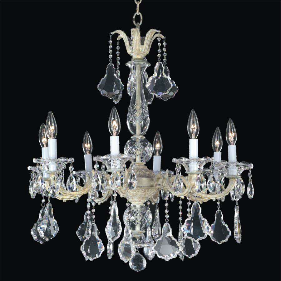 8 light chandelier metal and crystal chandelier 546a glow 8 light chandelier metal and crystal chandelier english manor 546a by glow lighting arubaitofo Gallery