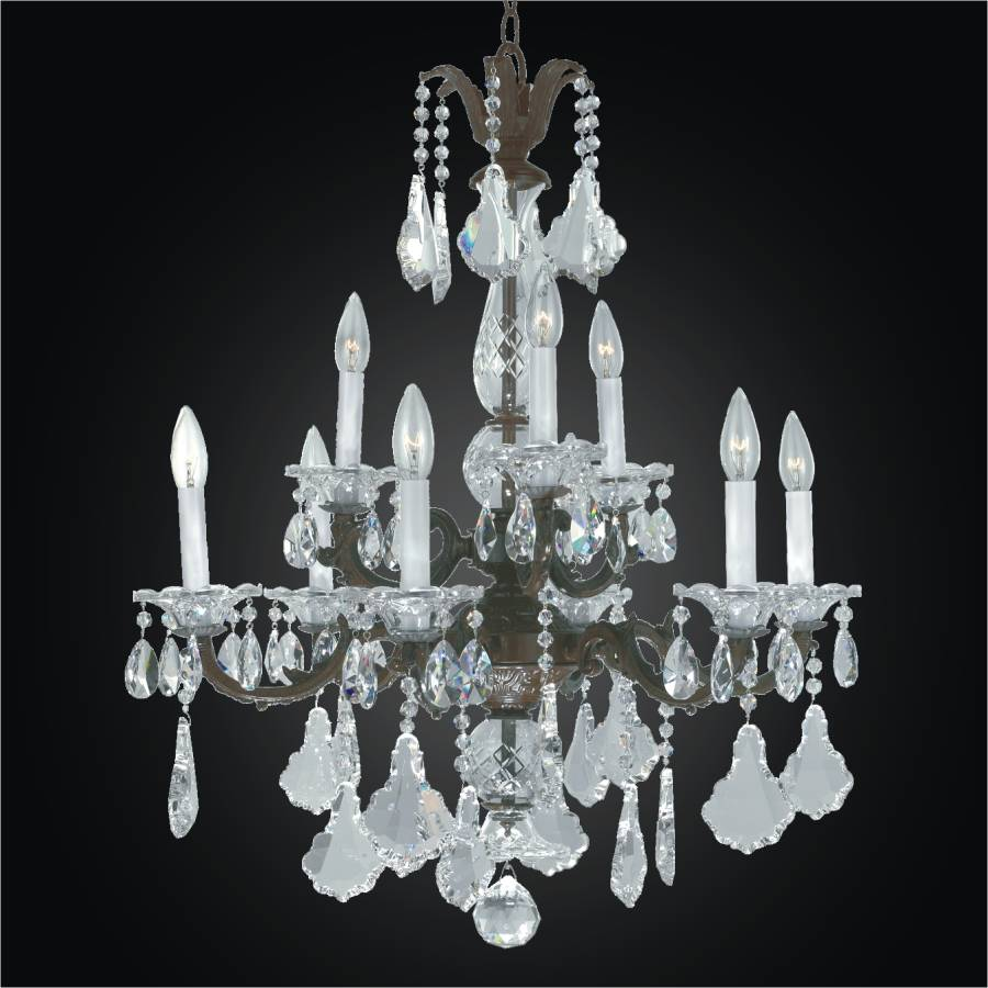 English Manor Glow Wrought Iron Crystal Chandelier 546ad9lcb 3c