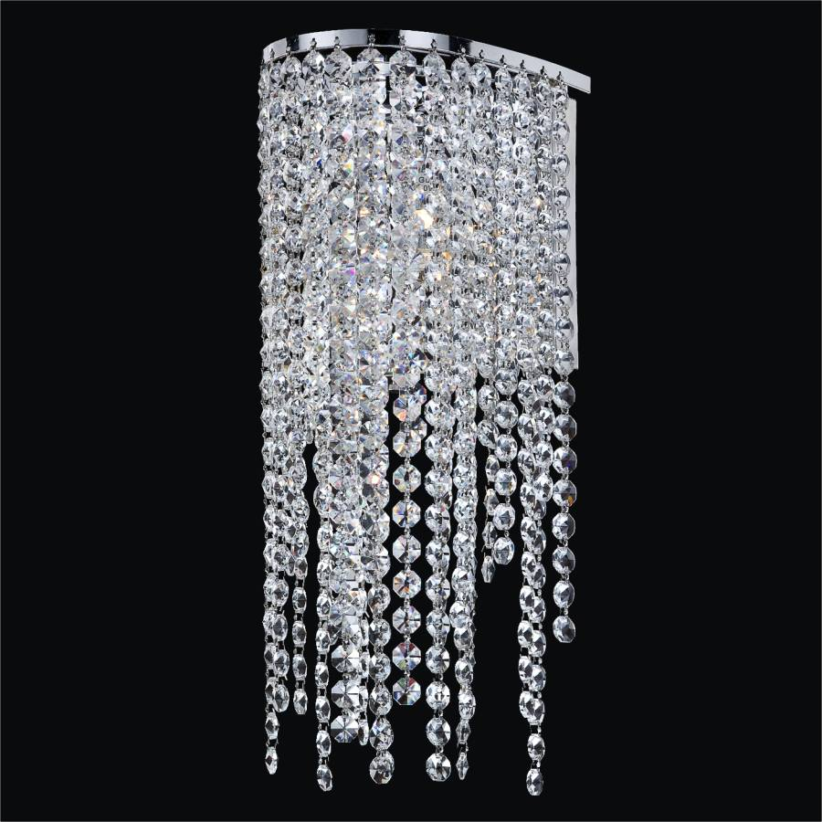 Wall Sconces Crystal : Crystal Strand Wall Sconce Ensconced 611 GLOW Lighting