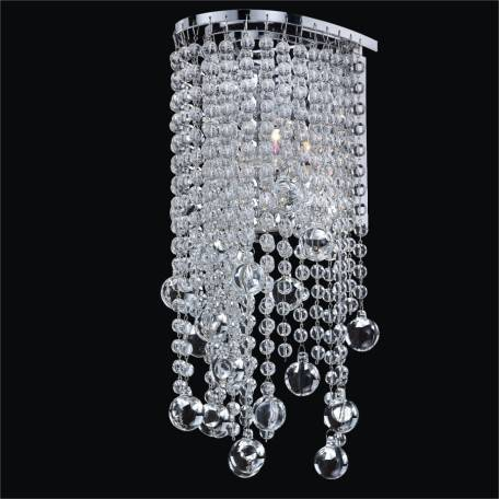 Crystal Beaded Wall Sconce | Ensconced 611 by GLOW Lighting