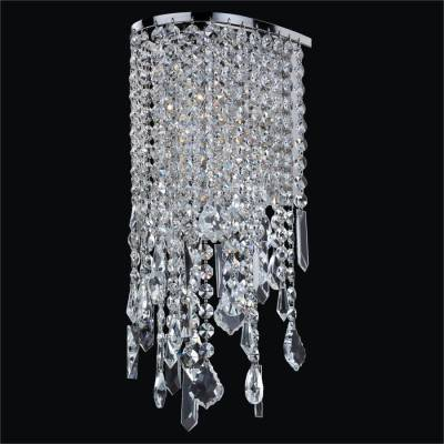 Crystal Pendalogue Sconces | Ensconced 611