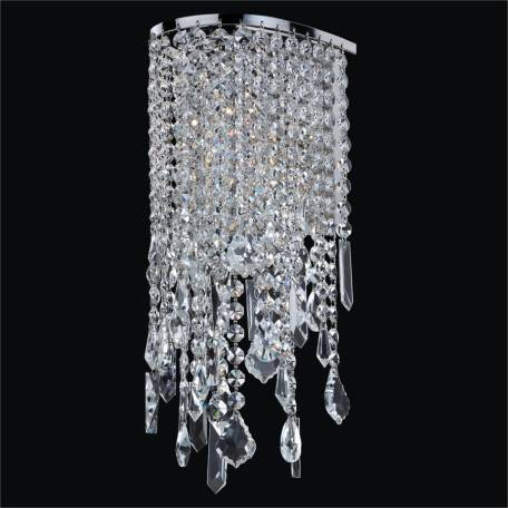 Crystal Sconce with Assorted Shaped Crystals | Ensconced 611 by GLOW Lighting