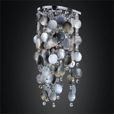 Dark Mother of Pearl Sconces | Ensconced 611