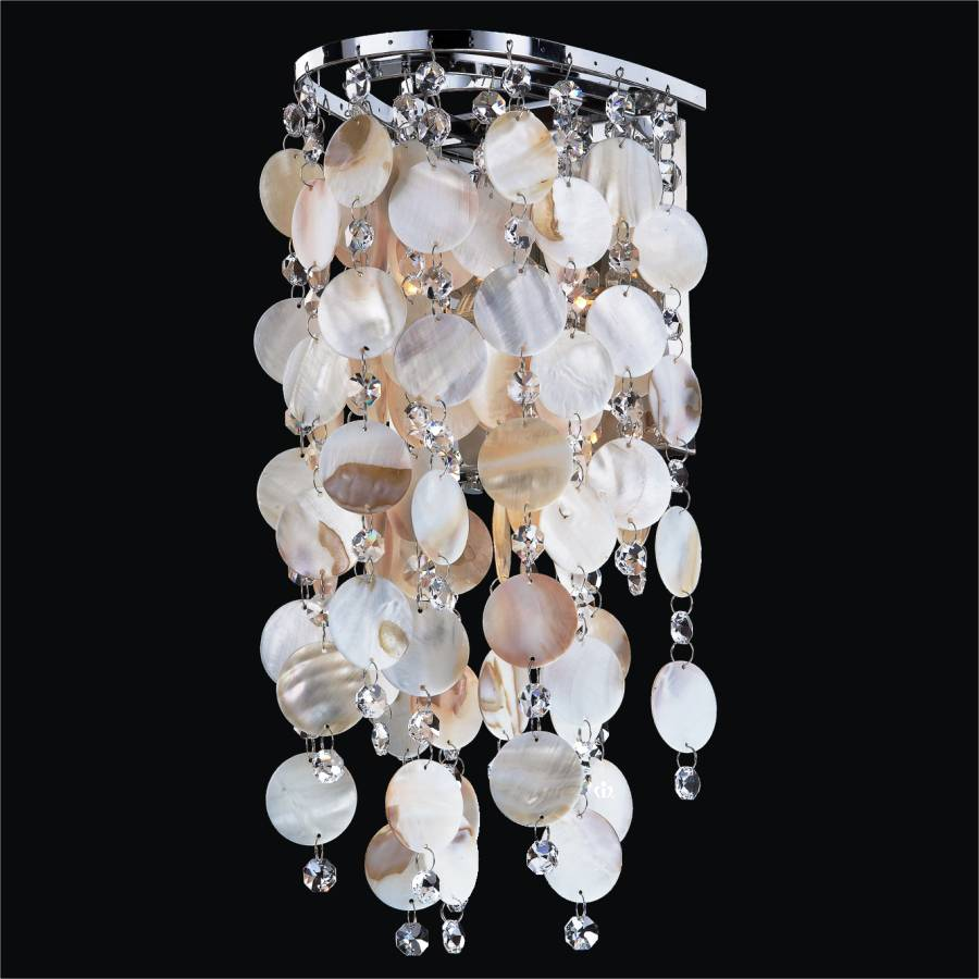 Oyster Shell Sconces With Crystal Ensconced 611