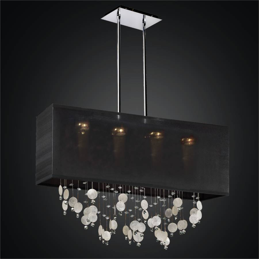 Capiz Chandelier - Rectangular Shade | Finishing Touches 007K by GLOW Lighting