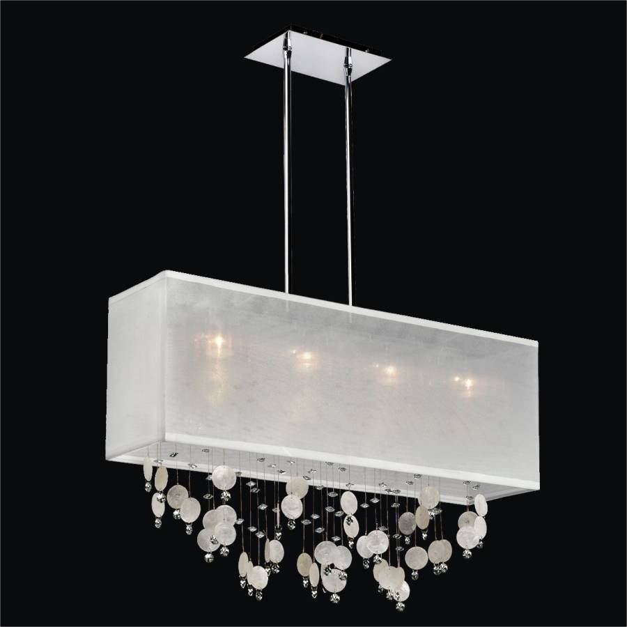 Capiz Chandelier Rectangular Shade Finishing Touches 007km33sp W 3c