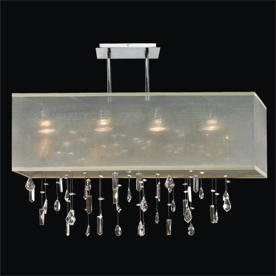 Crystal Chandelier with Shade | Finishing Touches 007M by GLOW Lighting
