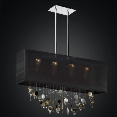 Rectangular Shade Chandelier – Mother of Pearl Chandelier | Finishing Touches 007