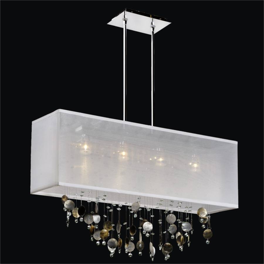 Rectangular Shade Chandelier   Mother Of Pearl Chandelier | Finishing  Touches 007 By GLOW Lighting ...