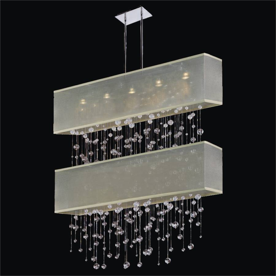 Bubble Chandelier - Double Shade Chandelier | Finishing Touches 007R by GLOW Lighting