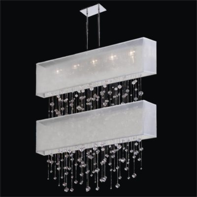 Bubble Chandelier – Rectangular Shade Chandelier | Finishing Touches 007