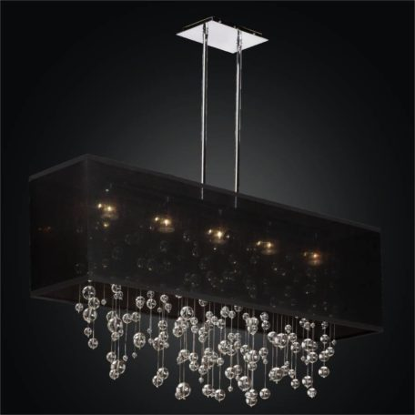Glass Bubble Chandelier - Rectangular Shade Chandelier | Finishing Touches 007 by GLOW Lighting