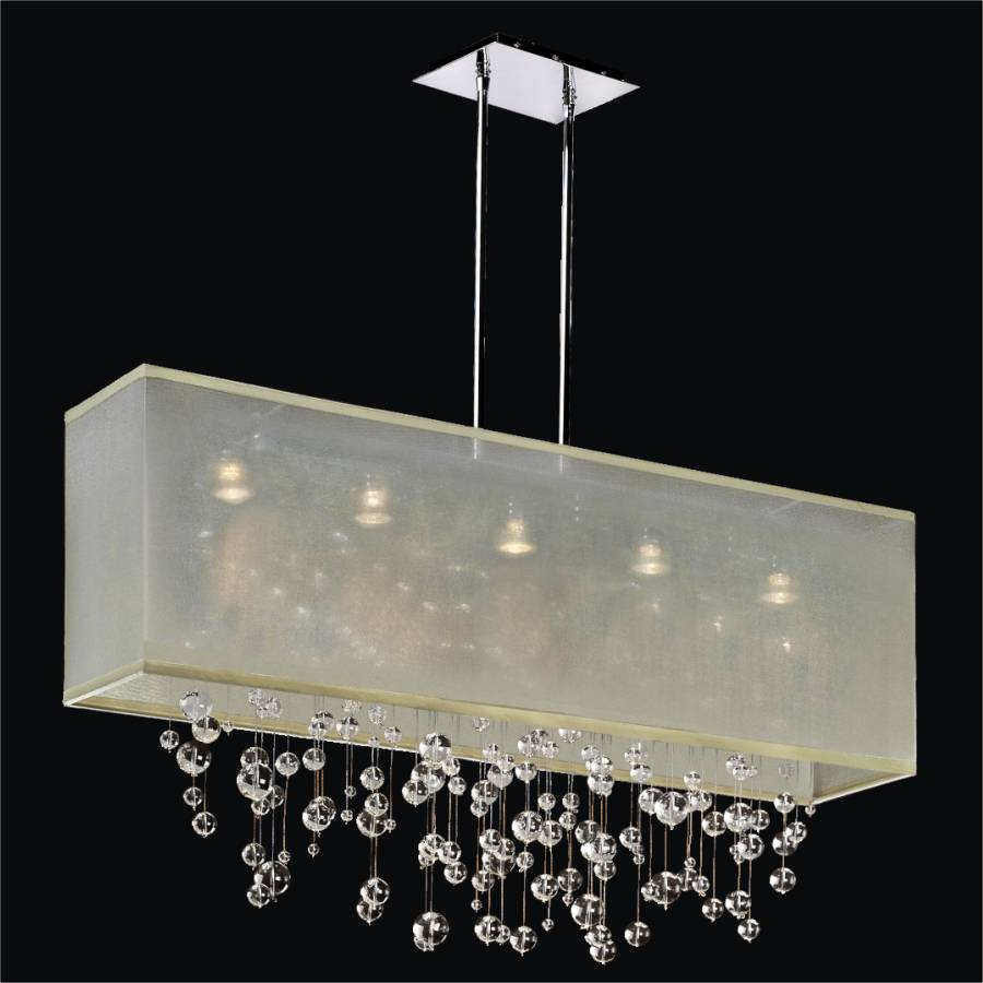 Bubble Chandelier - Rectangular Shade | Finishing Touches 007R by GLOW Lighting