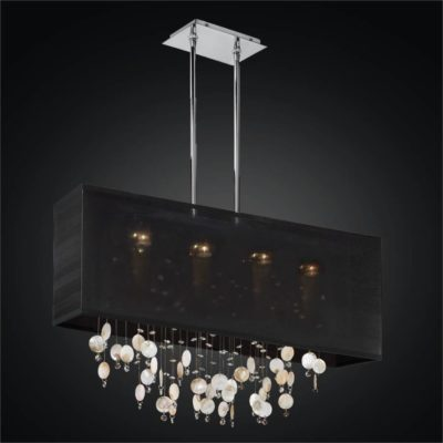Oyster Shell Chandelier – Rectangular Shade Chandelier | Finishing Touches 007