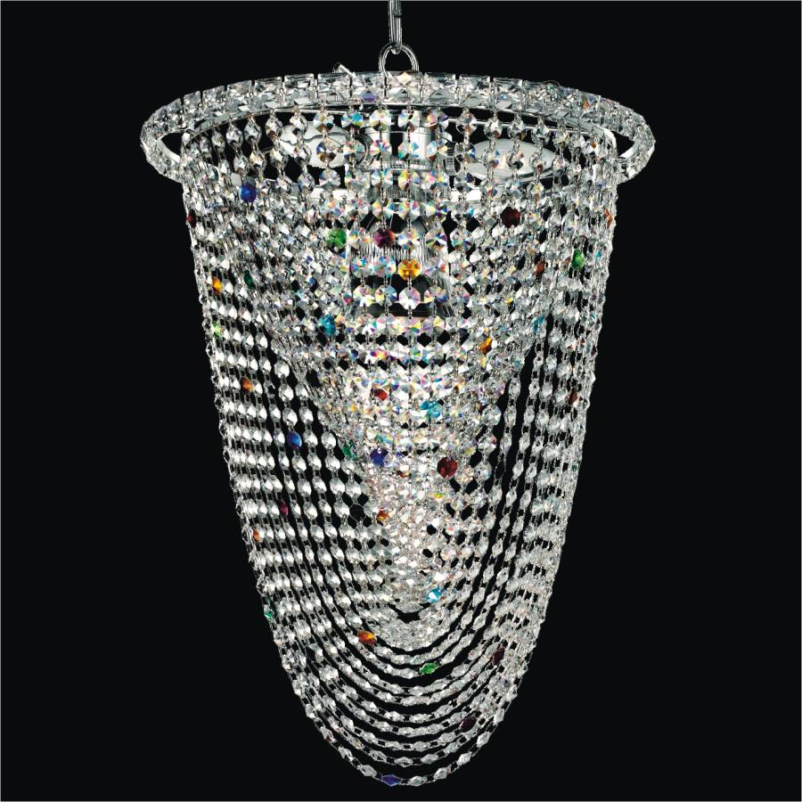 Fusion crystal chandelier by GLOW Lighting