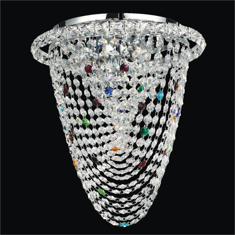 Colorful Crystal Flush Mount | Fusion 555 by GLOW Lighting