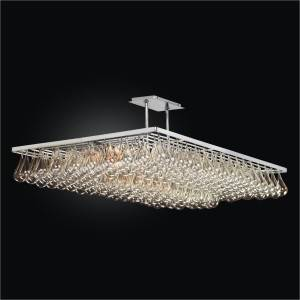 Large Rectangular Chandelier – Glass Chandelier | Genesis 635