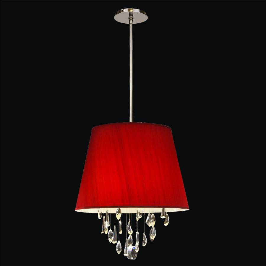 Drum Shade Pendant Light | Illusions 904t by GLOW Lighting