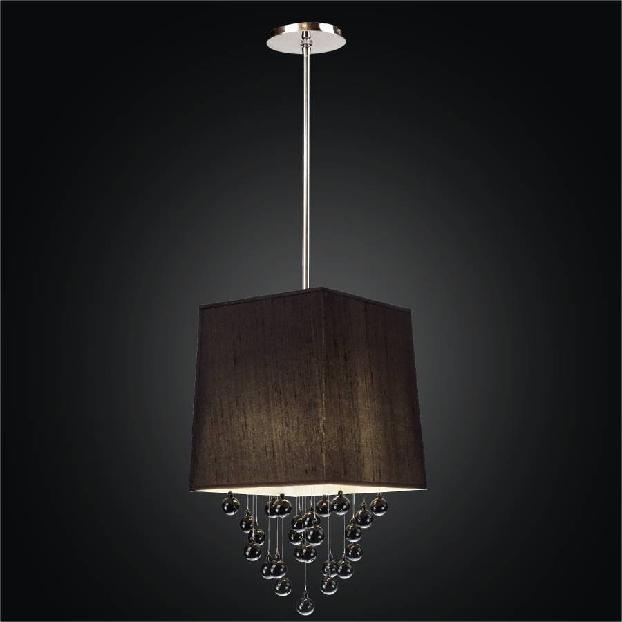 Drum Shade Square Pendant Light | Illusions 910 by GLOW Lighting