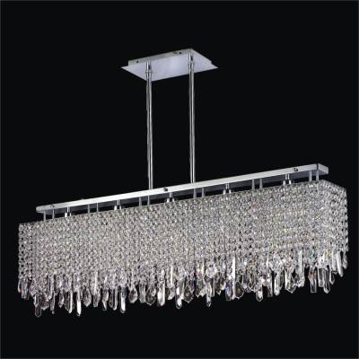 Modern Linear Crystal Chandelier | Innovations 592