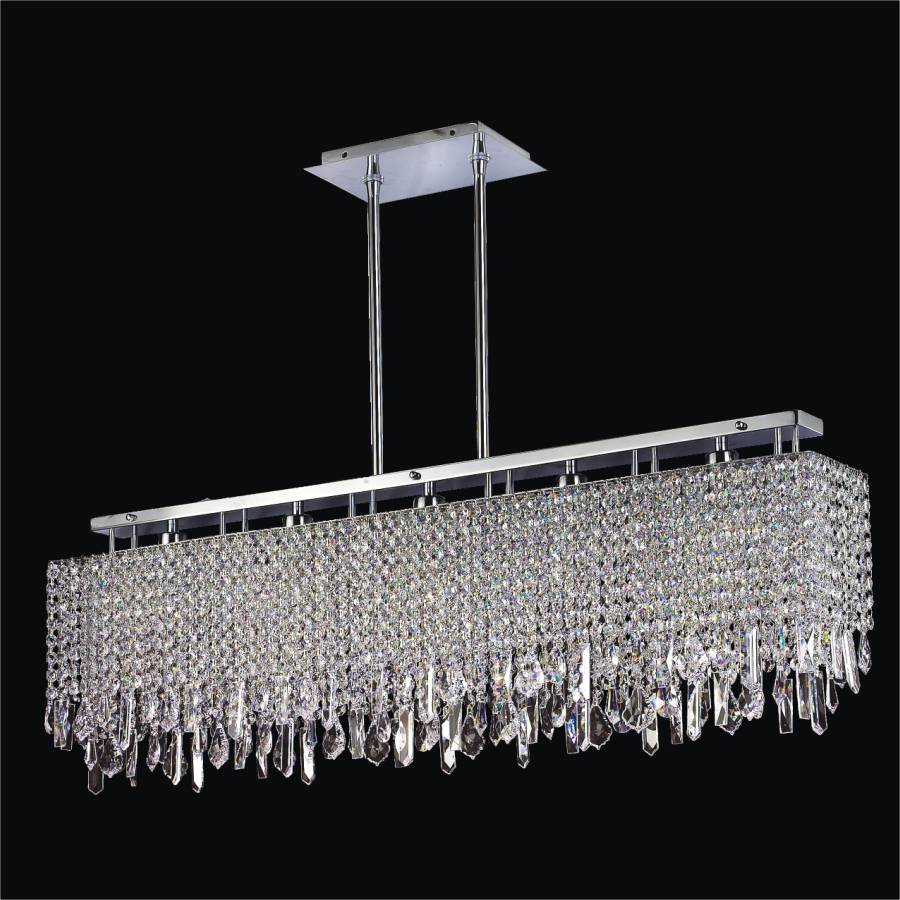 Linear Crystal Chandelier
