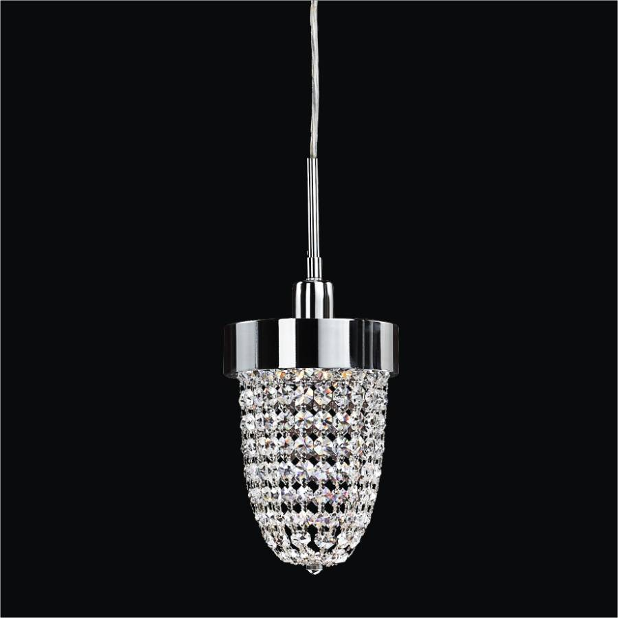 Mini Crystal Pendant Light | Intrigue 608 by GLOW Lighting