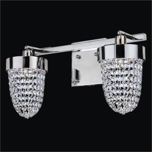 Crystal Bathroom Vanity Light | Intrigue 608 by GLOW Lighting