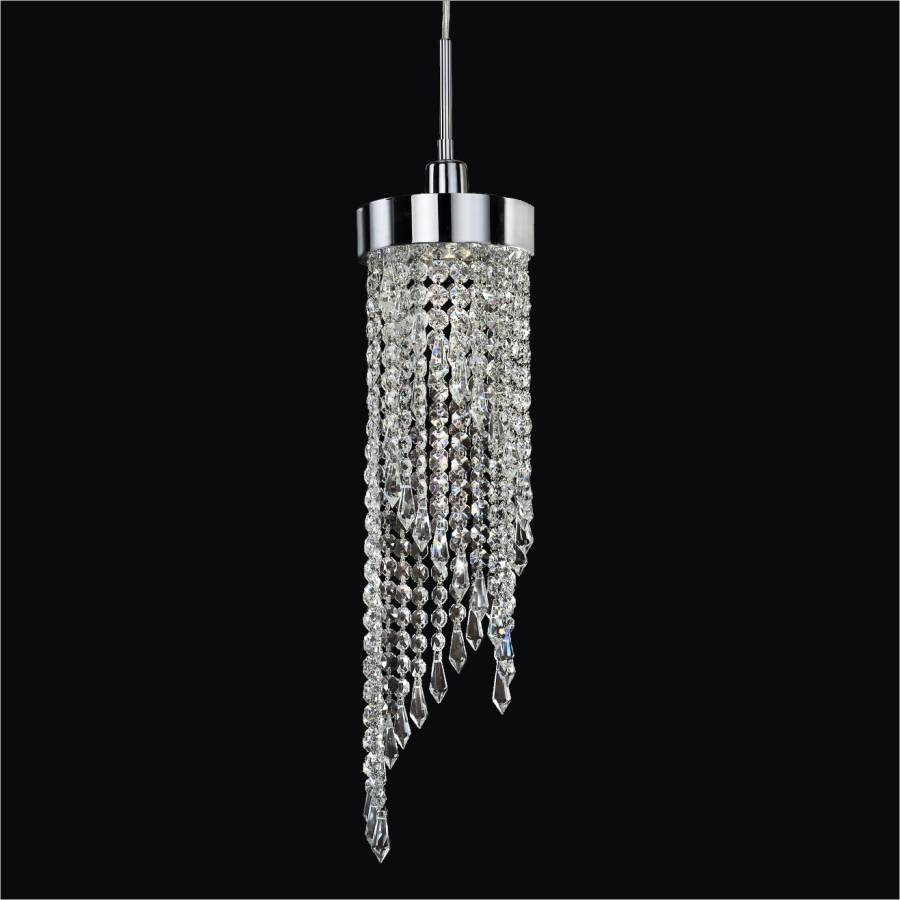 Small Crystal Pendant Light | Intuition 609 by GLOW Lighting