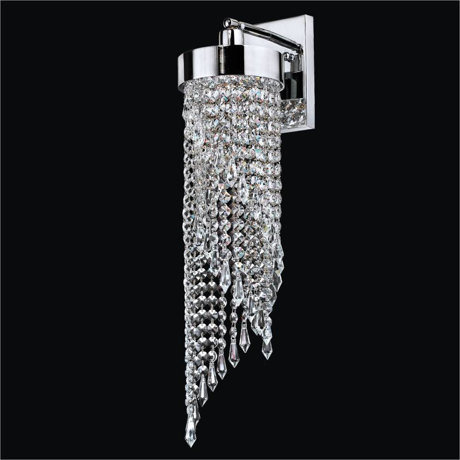 Wall Sconce Crystal Lighting : 2 Light Bathroom Vanity Light Intuition 609 GLOW Lighting