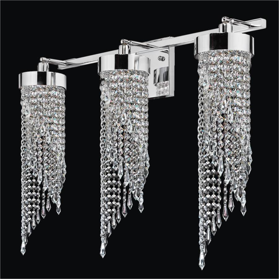 Small Crystal Wall Sconces : 2 Light Bathroom Vanity Light Intuition 609 GLOW Lighting