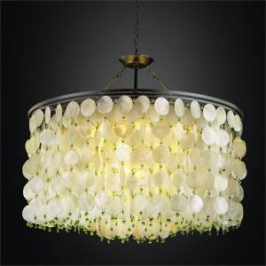 Large Capiz Chandelier | Island Paradise 587 by GLOW Lighting