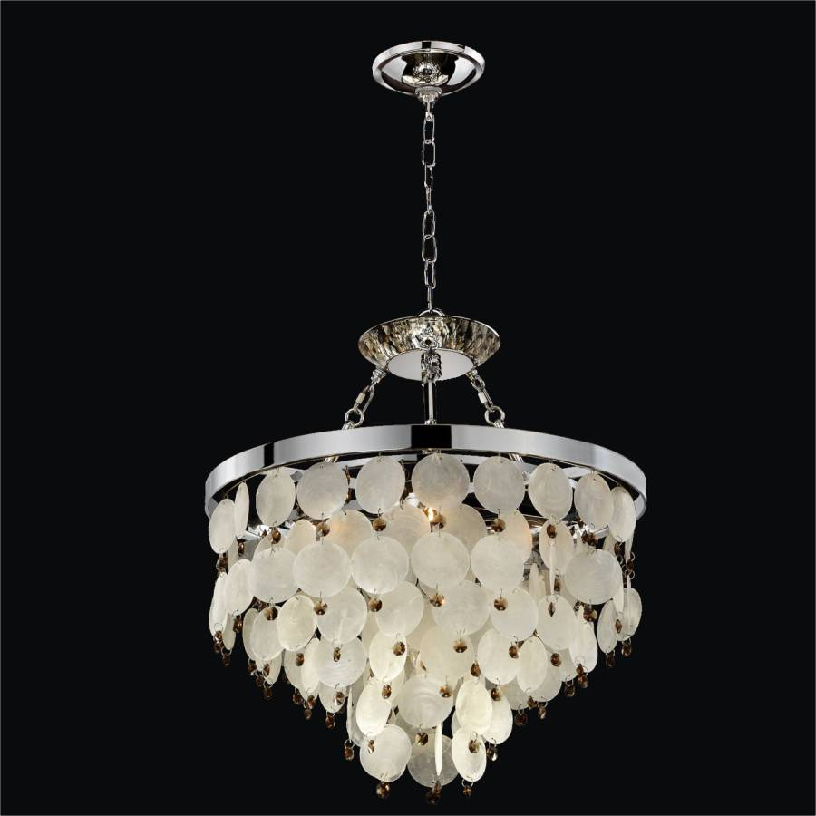 Capiz chandelier island paradise 587v glow lighting - Lights and chandeliers ...