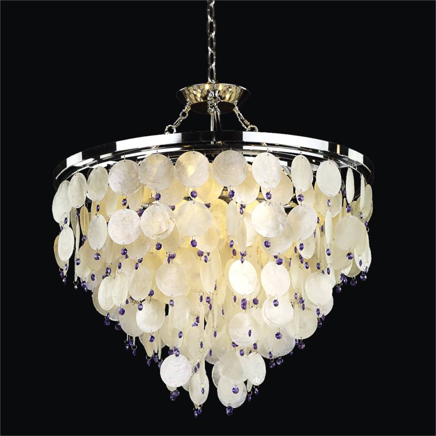 Capiz Chandelier Island Paradise 587v Glow 174 Lighting