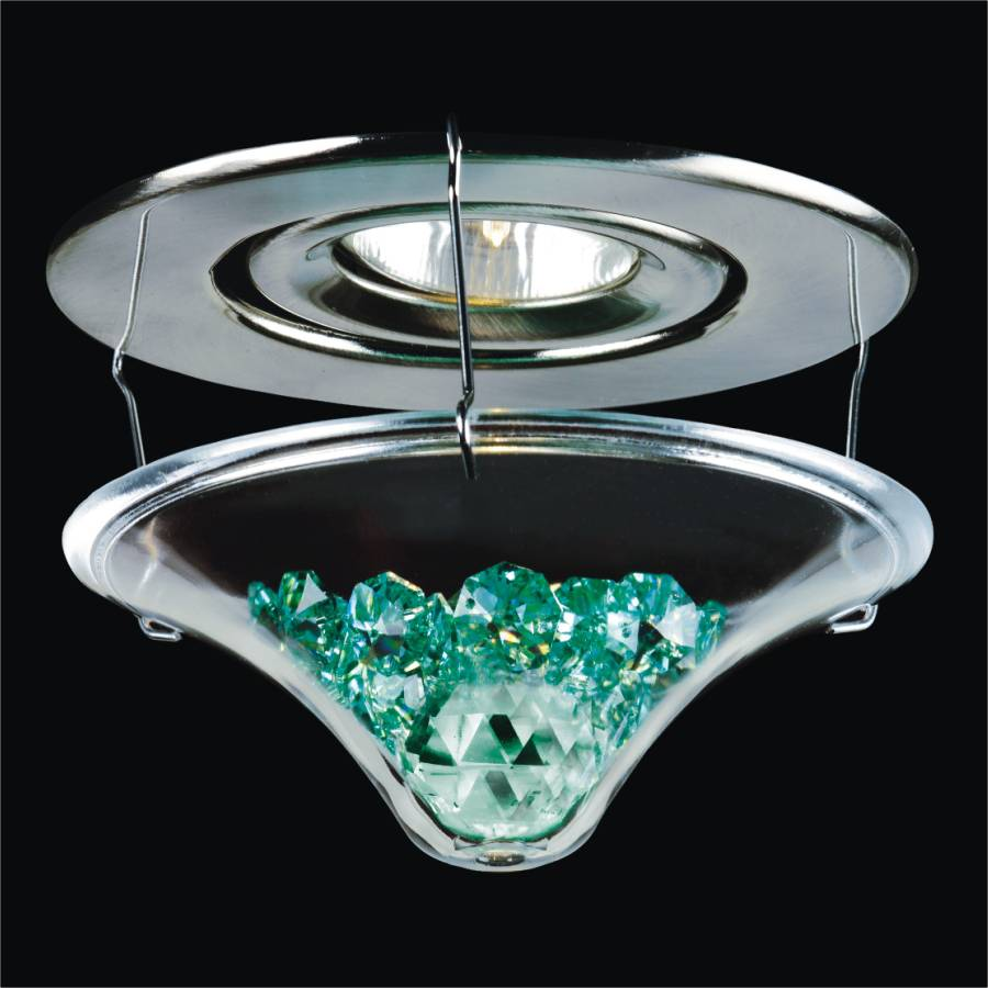 Jewel box crystal pot light attachment by GLOW Lighting