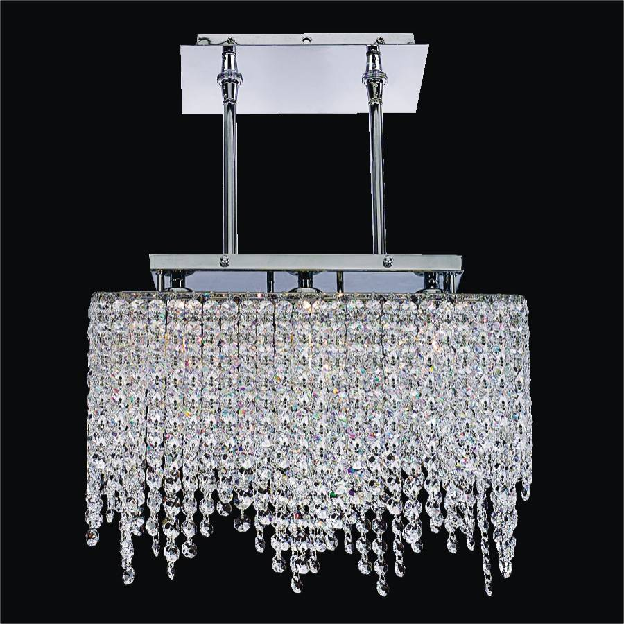 3-Light Crystal Pendant Chandelier | Legacy 572 by GLOW Lighting