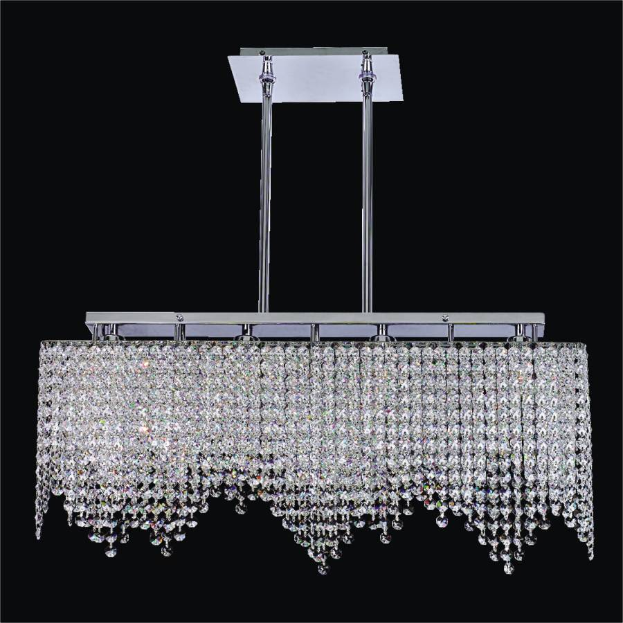 Rectangular Crystal Light Fixture | Legacy 572 by GLOW Lighting